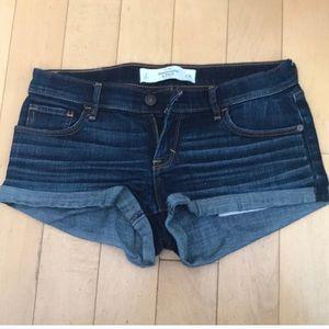 Abercrombie and Fitch cuffed denim shorts